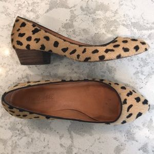💕Madewell Leather Animal Print Flats - Size 6 💕